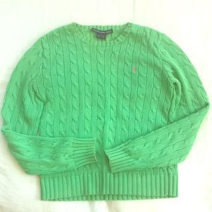 Ralph Lauren sport women green lime sweater